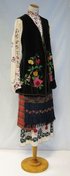 Women's costume from Ukraine, 20th century. Something my grandmother might have worn.