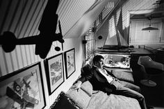Dustin Hoffman, buzzed by a World War I airplane, sits on set of The Graduate, Paramount Studios, 1967