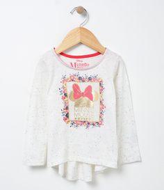 Blusa infantil    Manga longa    Gola redonda    Com estampa    Marca: Minnie    Tecido: meia malha    Composição: 100% algodão         COLEÇÃO VERÃO 2017         Veja outras opções de    blusas infantis.