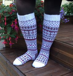 Knee High Socks, Knitting Socks, Mittens, Slippers, Crochet, Diagram, Projects, Crafts, Fashion