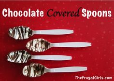 Chocolate Covered Spoons! ~ at TheFrugalGirls.com {perfect for cocoa and hot chocolate!}