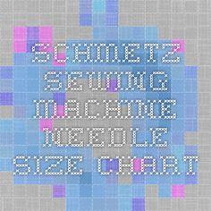 sewing machine chart