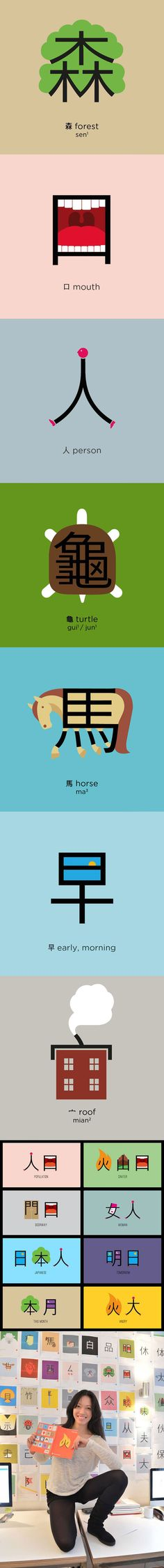 Playful illustrations make it easy to learn Chinese... - The Meta Picture