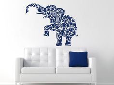 Wall Decals India Elephant Decal Vinyl Sticker Decal Art Home Decor Art Mural Bedroom Home Decor MS311