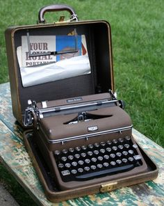 Royal typewriter - got one similar to this for Christmas and still have it!