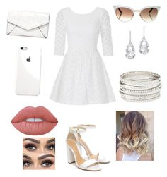 """""""White⬜️"""" by nicabianca on Polyvore featuring Lilly Pulitzer, Schutz, LULUS, Gucci, Plukka, Charlotte Russe and Lime Crime"""