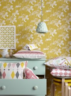 Home Decorators Collection Flooring Deco Kids, Cool Kids Rooms, Interior Decorating, Interior Design, Interior Styling, Yellow Interior, Kids Decor, Home Decor, Little Girl Rooms