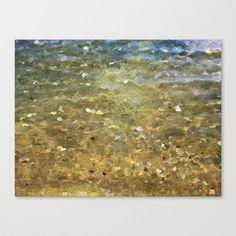 Plage de Saint-Clair - Paix - France Stretched Canvas by Escrevendo e Semeando - $85.00
