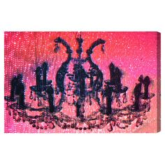 Canvas print with a chandelier motif. Made in the USA by The Oliver Gal Artist Co.   Product: Canvas printConstructi...