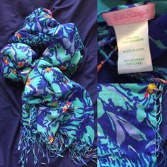 Mai Tai Murfee scarf Has small run, not noticeable when wearing. $50 through MERC or PP Lilly Pulitzer Accessories Scarves & Wraps