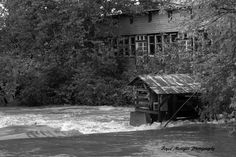 We shot this photo of the Ozark Mill during the flood!