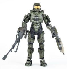 "Halo 5 Series 1 MASTER CHIEF 5.25"" Action Figure SNIPER RIFLE 3 Guns McFarlane #McFarlaneToys"