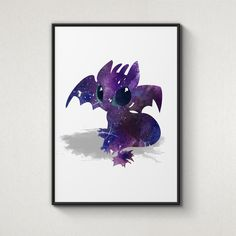 Dragon, How to train your dragon, Alternative Poster, Watercolor Painting, Archival Fine Art, Home Wall Decor, Giclee Print, Nursery decor by WatercolorPrintShop on Etsy https://www.etsy.com/listing/196257477/dragon-how-to-train-your-dragon