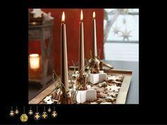 Weihnachtsdeko mit Kerzen und Sternchen www.tiziano-shop.com