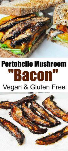 If you want the smoky, umami flavor of bacon in a mushroom you've got to try this Portobello mushroom bacon!