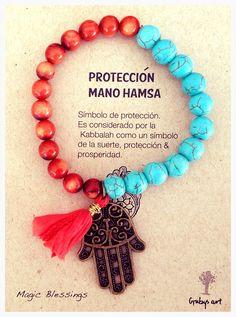 Pulsera de protección llena de color/ facebook Grubys art