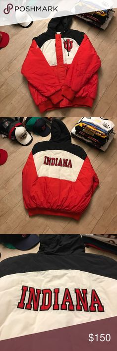 "Apex-one Indiana Hoosier Jacket Size: XL Apex-one Indiana Hoosier Jacket Size: XL Good condition  Width: 28.5"" Length: 30"" Sleeves: 24.5"" Apex-One Jackets & Coats Puffers"