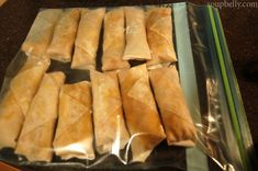 How to freeze spring rolls. Then fry or bake.