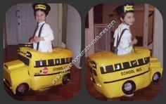 Halloween 2010 Coolest Homemade Costume Contest Runner-Up.  Yellow School Bus costume submitted by Danielle from Northbrook, IL...