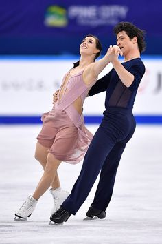 Tessa Virtue and Scott Moir in the free dance at the Canadian Tire National Skating Championships, January, 21, 2017