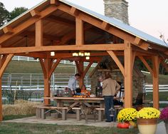 Could put this down in our timber closer to the river - Cypress Timber Frame Pavilion