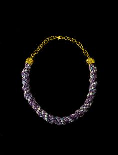 Braided Statement Necklace Colorful Necklace by BrushOnSilk, €15.00