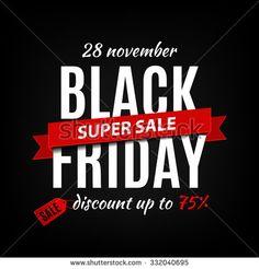 Black Friday sale inscription design template. Black Friday banner. Vector illustration - stock vector