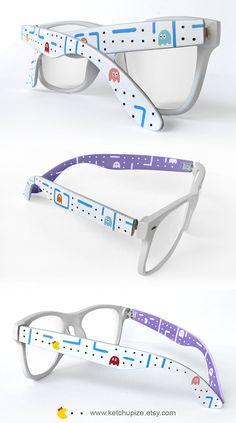 96daac1ec5d Pac-man custom Wayfarer style glasses by Ketchupize