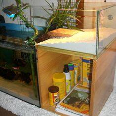 separate basking tank for aquatic turtles