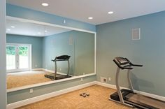 22 Trendy Home Gym Basement Inspiration Wall Colors Basement Inspiration, New Homes, Dance Rooms, Bars For Home, Trendy Home, Home Remodeling, Home, Small Space Mirrors, Gym Room At Home