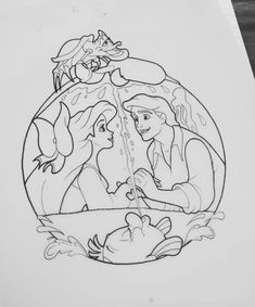 Disney Princess Drawings, Disney Sketches, Disney Drawings, Cartoon Drawings, Disney Kunst, Arte Disney, Disney Art, Disney Tattoos, Disney Coloring Pages
