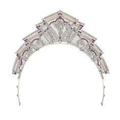 Edwardian Tiara (early 20th c.; rubies, pearls, diamonds).