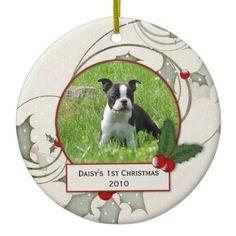 #petphotoornaments #christmasornaments #puppys1stchristmas #petornaments