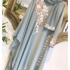 No photo description available. Modest Fashion Hijab, Niqab Fashion, Street Hijab Fashion, Muslim Fashion, Fashion Dresses, Abaya Style, Hijab Style, Hijab Dress Party, Pakistani Wedding Dresses