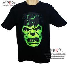 Camisetas 100% algodão, com estampa do Hulk. <br>Vários tamanhos e cores. <br>Entrega rápida. <br>Whatsapp: 15 9 81600601