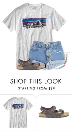 """""""Loved my pre-birthday weekend. Pics in items❤"""" by flroasburn ❤ liked on Polyvore featuring Patagonia, Levi's, Birkenstock and Pura Vida"""