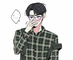 Exo Anime, Anime Guys, Anime Art, Cast Art, Kpop Fanart, Got7 Fanart, Exo Fan Art, Cute Love Memes, Kpop Drawings