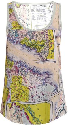 ~Map print tank top | House of Beccaria#