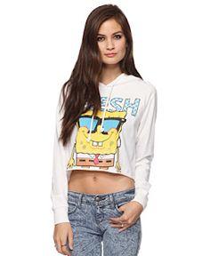 Fresh Spongebob crop sweater