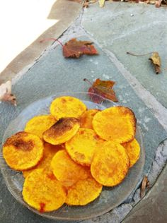 """Baked Butternut Squash Chips **LOVE to see #veggies being showcased! Try our """"Feel Good Ranch"""" #Saladshots for all the flavor & none of the fattening calories & guilt! www.Saladshots.com"""
