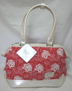 Beijo Couture TRULY MADLY DEEPLY Pearl tomato red embroidery purse handbag bag, available now from itspursonal@aol.com