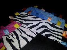 tag blanket  zebra pink or blue by AngelCreationBoutiqu on Etsy, $6.00