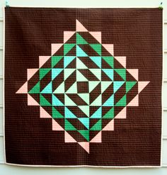 """Beautiful """"Succulent' quilt by Michelle Wilkie of Factotum of Arts."""