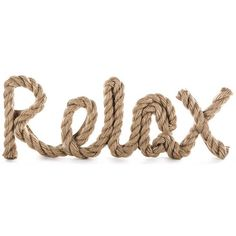 Relax Word with Jute Rope Accent