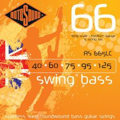Rotosound RS665LC Swing Bass 66 Stainless Steel 5 String Bass Guitar Strings (40 60 75 95 125) by Rotosound. Save 43 Off!. $28.53. The most popular Roundwound bass string ever. Rotosound was the first string company to produce this kind of string. Introduced in 1962 it changed the sound of the instrument instantly. The favourite string of many players including Billy Sheehan, John Paul Jones and Geddy Lee. Available in all popular gauges and scale lengths. The steel used to pr...