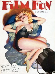 Film Fun 1933 12 Cover art by Enoch Bolles
