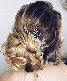 Beautiful Updo Wedding Hairstyles 2017 – 2018 with Headpeice #weddinghairstyles