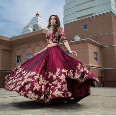 Burgundy Embroidered Taffeta Party Wear New Lehenga Choli Designs Indian Bridal Lehenga, Indian Bridal Wear, Bridal Anarkali Suits, Bridal Outfits, Bridal Dresses, Eid Outfits, Eid Dresses, Indian Dresses, Indian Outfits