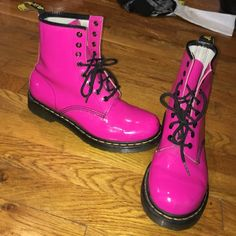 Pink Doc Martins Pink Doc Martins- Great Condition- Super Comfy- Worn a few times- TAKING OFFERS UGG Shoes Combat & Moto Boots