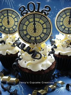 New Years Cupcake (image only)